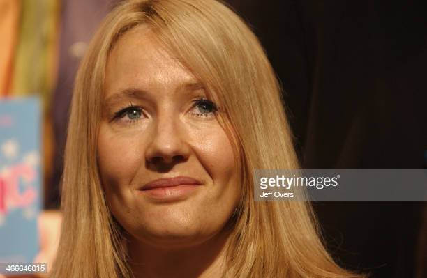 J K Rowling GB author of the Harry Potter series of books