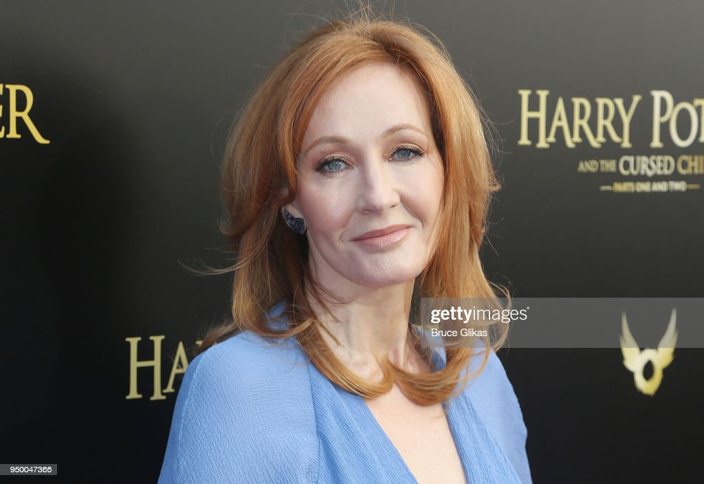J.K. Rowling poses at 'Harry Potter and The Cursed Child parts 1 & 2' on Broadway Opening Night at The Lyric Theatre on April 22, 2018 in New York City.