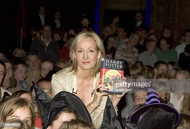 J K Rowling Signs Copies Of The New Harry Potter Book 'Harry Potter And The Deadly Hallows' At The Natural History Museum In London