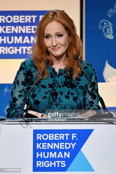 Rowling speaks onstage at the 2019 RFK Ripple of Hope Awards at New York Hilton Midtown on December 12, 2019 in New York City.