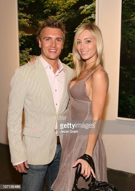 Rowly Dennis and Kelsey Crane attends Alexandra Hedison's ITHAKA opening at Month Of Photography LA at Frank Pictures Gallery on April 4 2009 in...