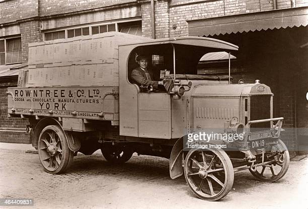 A Rowntree Co openbacked delivery lorry 1915