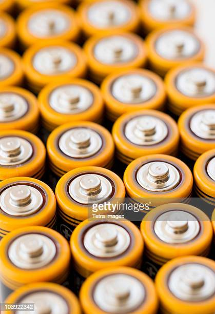 Rows of AA batteries