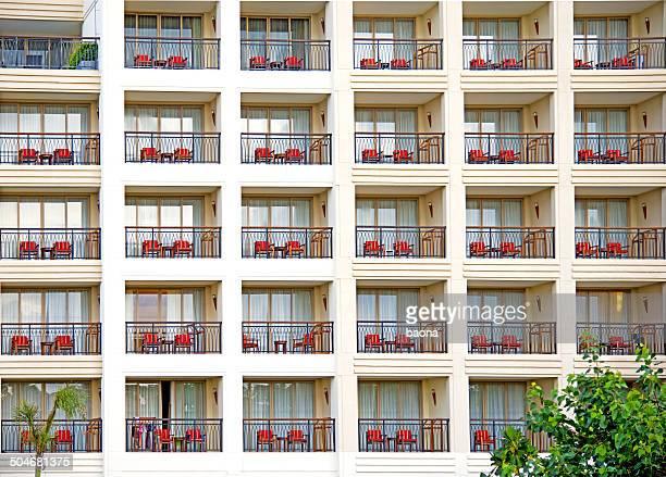 Rangées de balcons