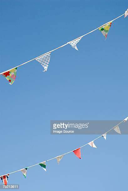rows of bunting - bunting stock pictures, royalty-free photos & images