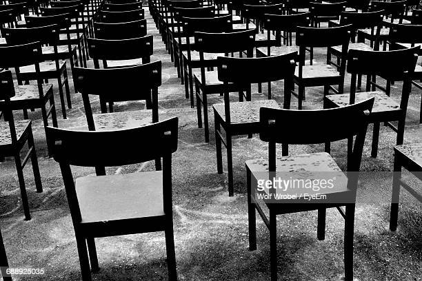 Rows Of Empty Chairs In Room