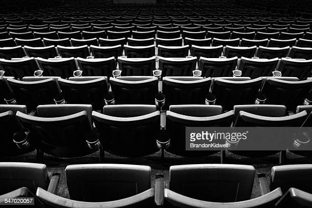 rows of empty stadium seats - empty bleachers stock photos and pictures