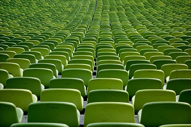 Rows Of Green Chairs