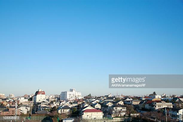 Rows of houses, Denenchofu, Tokyo, Japan.