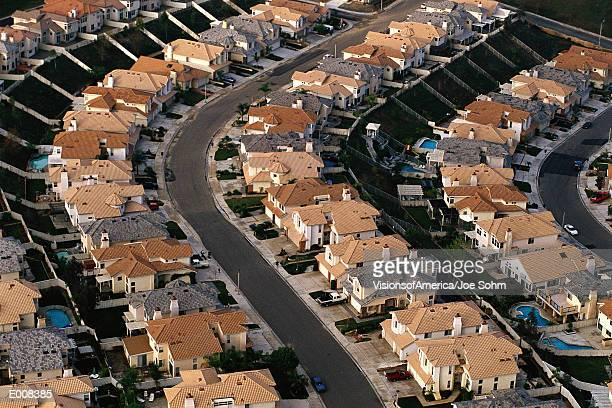 Rows of houses, Orange County, CA