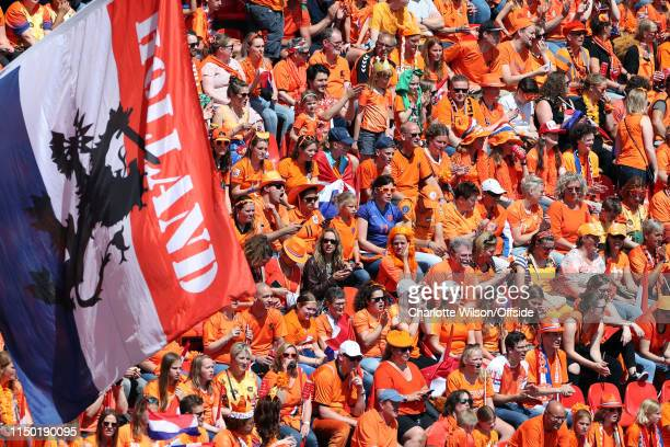 Rows of Netherlands during the 2019 FIFA Women's World Cup France group E match between Netherlands and Cameroon at on June 15 2019 in Valenciennes...