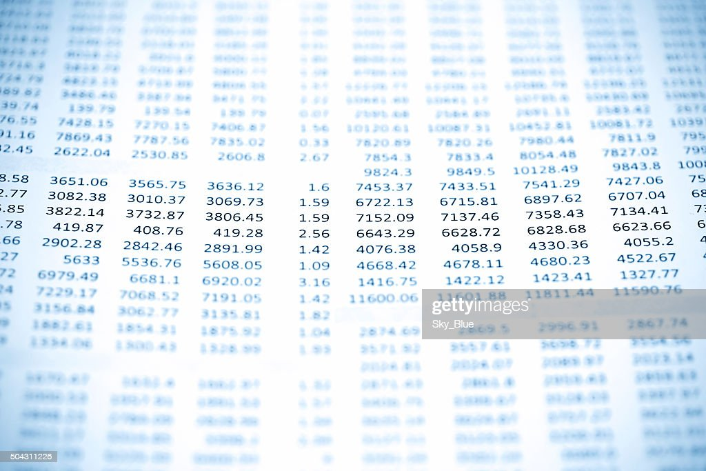 Rows of numbers : Stock Photo