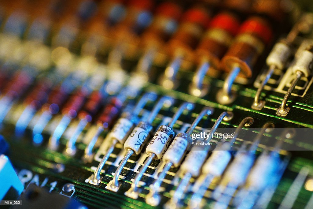 Rows Of Resistors On Circuit Board Stock Photo - Getty Images