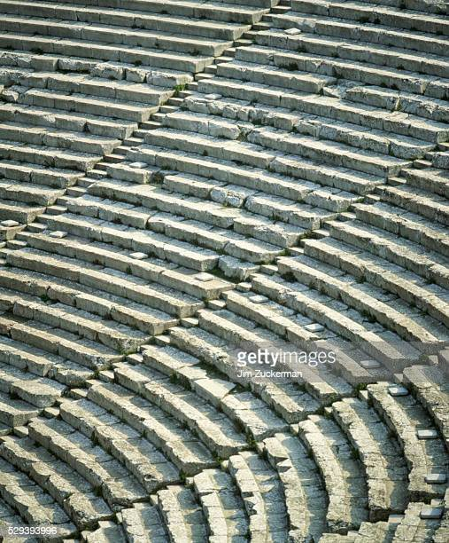 Rows of Seating at Theater of Epidauros