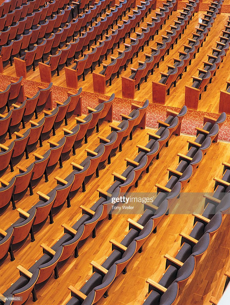 Rows of seats in auditorium : Stock Photo