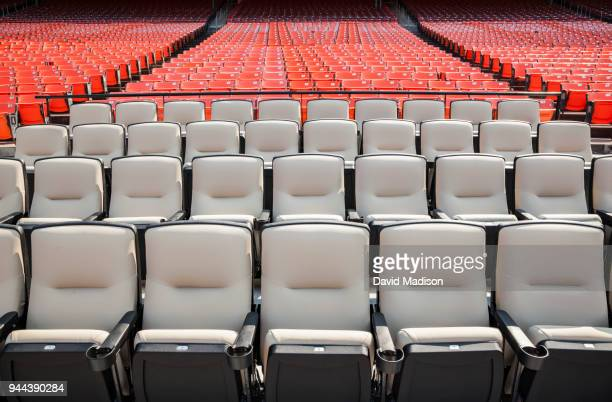 rows of stadium seats - bleachers stock pictures, royalty-free photos & images