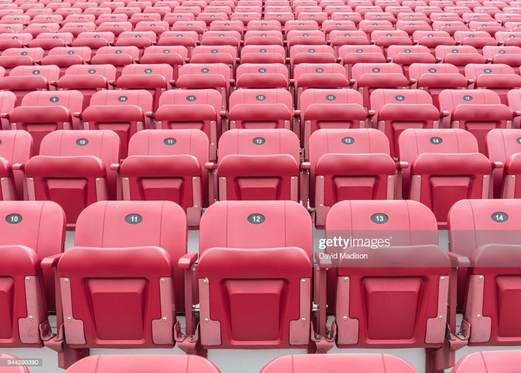 Rows of stadium seats : Stock Photo