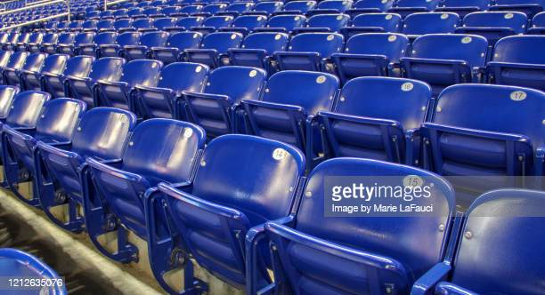 rows of stadium seats with seat numbers - fauci stock pictures, royalty-free photos & images