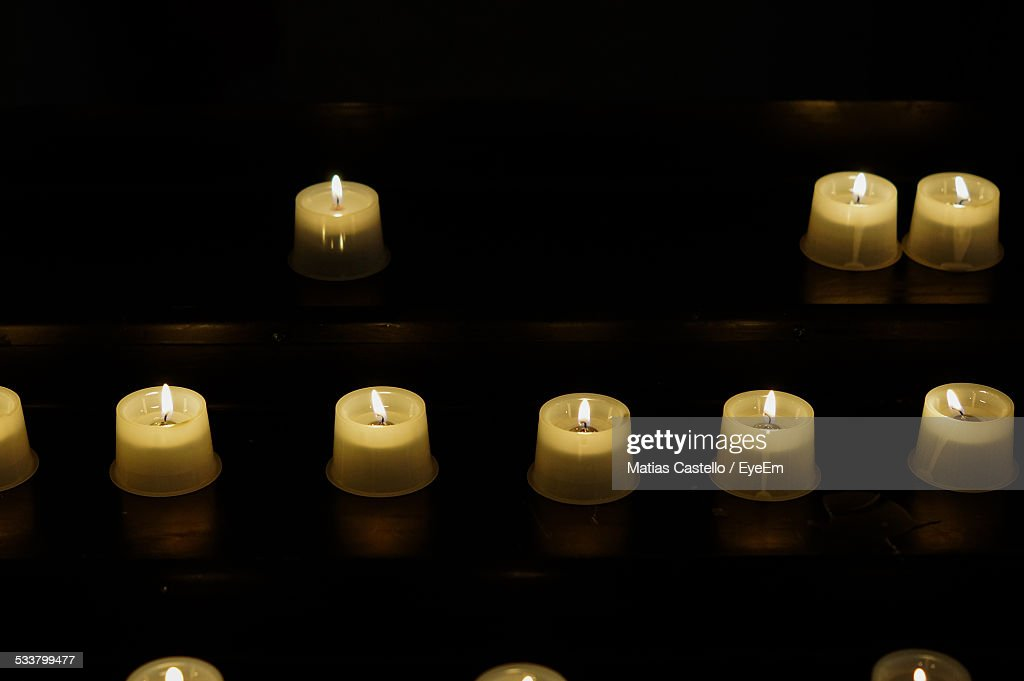 Rows Of Tealights : Foto stock