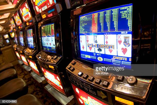 Rows of video poker machines are seen at Thunder Valley Casino The casino which is located just north of Sacramento is owned by the United Auburn...