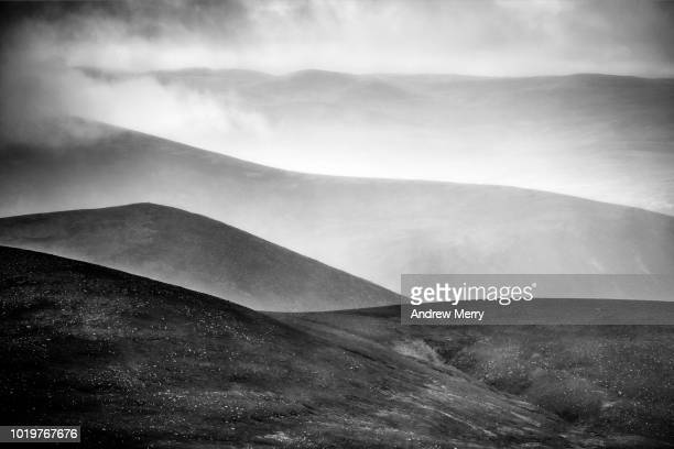 Rows or layers of mountains, hills, Cairngorms, Scotland