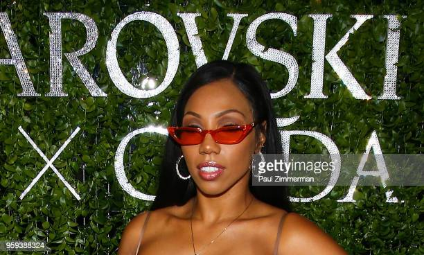 Rox Brown attends the 2018 CFDA Fashion Awards' Swarovski Award For Emerging Talent Nominee Cocktail Party at DUMBO House on May 16 2018 in New York...