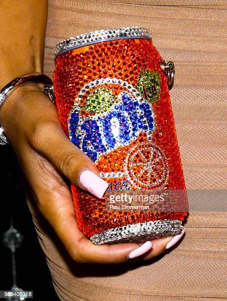 Rox Brown purse detail at the 2018 CFDA Fashion Awards' Swarovski Award For Emerging Talent Nominee Cocktail Party at DUMBO House on May 16 2018 in...