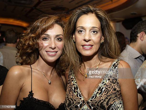 Roxana Banafshe and Abla Khoursheed during Capitol File Magazine and Fox Celebrate the Launch of MyTv at Cafe Milano in Washington DC United States