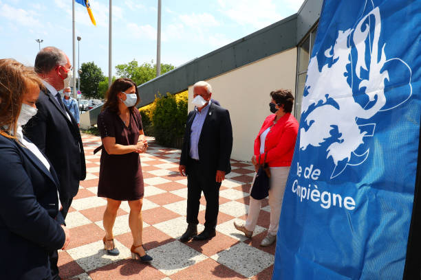 FRA: Sports Minister Roxana MARACINEANU visit a swimming pool relating to the Coronavirus epidemic