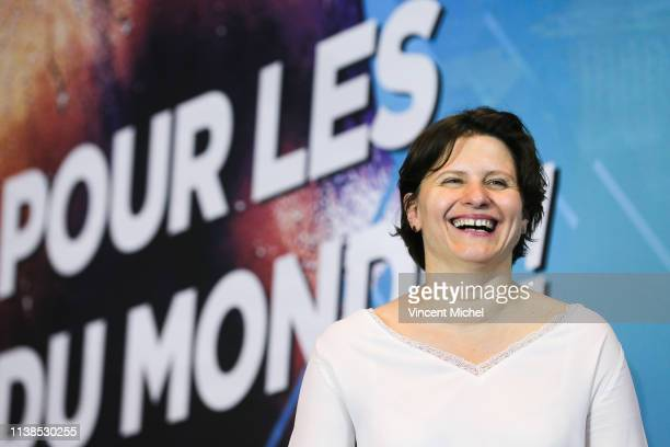 Roxana Maracineanu French Minister of Sports during the French Championship Swimming on April 21 2019 in Rennes France