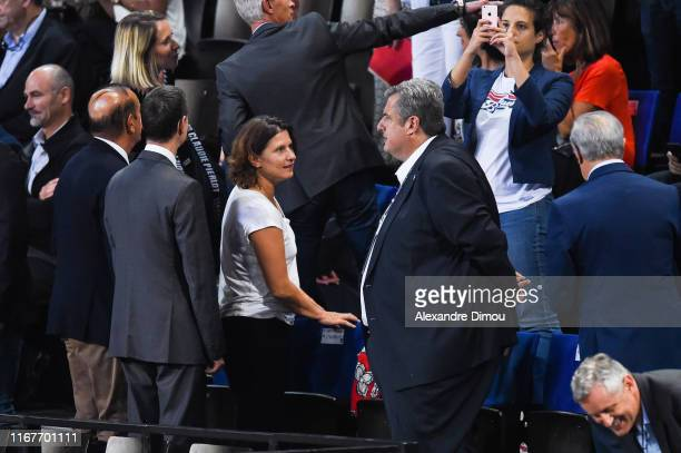 Roxana Maracineanu French sports Minister during the Euro Volley match between France and Romania on September 12 2019 in Montpellier France