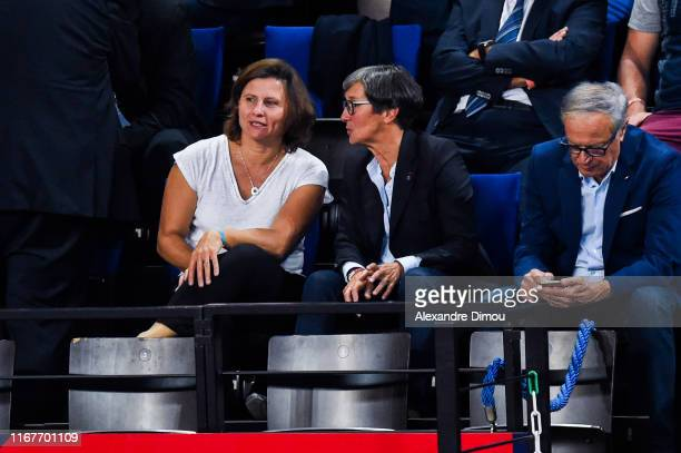 Roxana MARACINEANU French sports Minister with Valery FOURNEYRON during the Euro Volley match between France and Romania on September 12 2019 in...