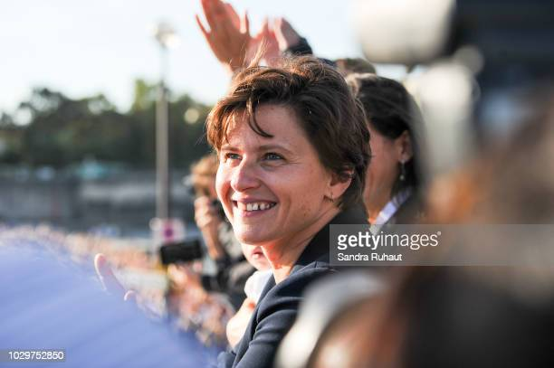 Roxana Maracineanu new french sports minister during the La Parisienne on September 9 2018 in Paris France