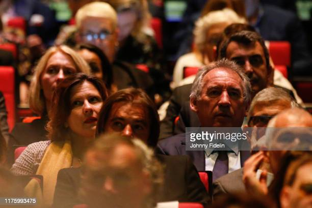 Roxana MARACINEANU sport minister and Francois BAYROU mayor of Pau during the Presentation of 107th Tour de France 2020 at Palais des Congres on...