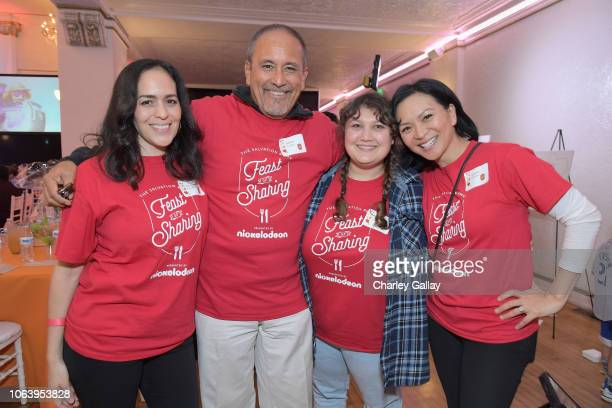 Roxana Ortega Ruben Garfias Alex Cazares and Sumalee Montano attend Salvation Army NICKELODEON Feast of Sharing on November 20 2018 in Los Angeles...
