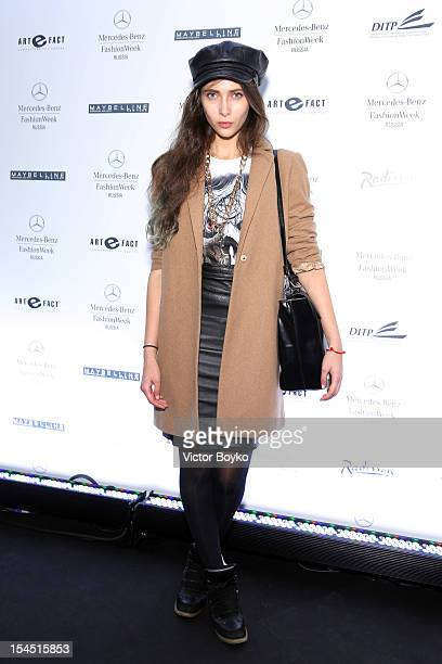 Roxana Rustamona attends day 4 of MercedesBenz Fashion Week Russia Spring/Summer 2013 at Manege on October 21 2012 in Moscow Russia