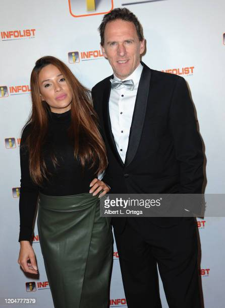 Roxana Sanchez and Hugo Teugels attend INFOlistcom's PreOSCAR Soiree and Birthday Party for founder Jeff Gund held at SkyBar at the Mondrian Los...