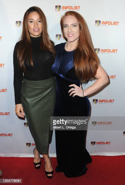 Roxana Sanchez and Shannon Murray attend INFOlistcom's PreOSCAR Soiree and Birthday Party for founder Jeff Gund held at SkyBar at the Mondrian Los...