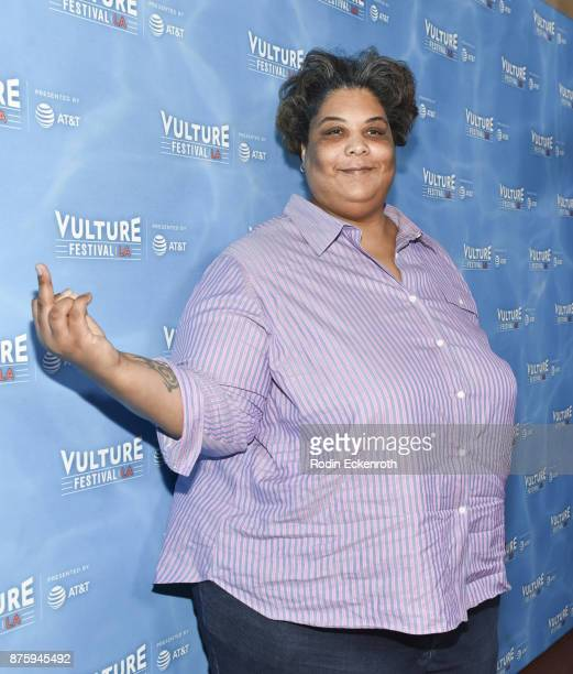 Roxane Gay attends the Feminist AF Panel at Vulture Festival Los Angeles at Hollywood Roosevelt Hotel on November 18 2017 in Hollywood California
