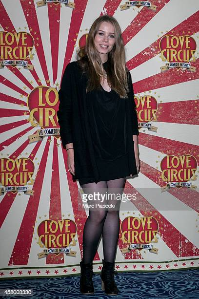 Roxane Le Texier attends the 'Love Circus The Musical' at Folies Bergeres on October 28 2014 in Paris France
