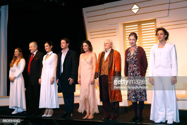 Roxane le Texier JeanJacques Moreau Odile Cohen Davy Sardou his wife Noemie Elbaz JeanPaul Farre Michele Garcia and Gunther Vanseveren acknowledge...