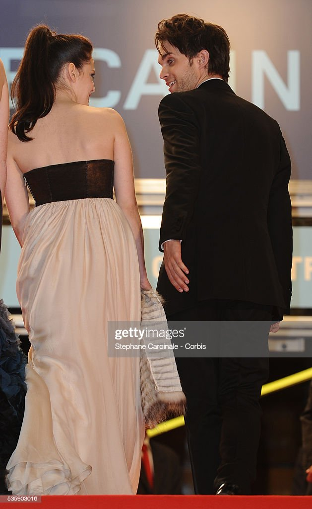 Roxane Mesquida and Thomas Dekker at the premiere of 'Kaboom' during the 63rd Cannes International Film Festival.