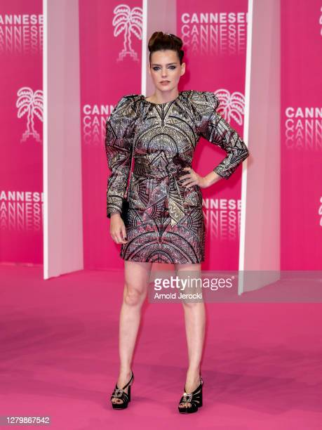 Roxane Mesquida attends the Pink Carpet Day Four at the 3rd Canneseries on October 12 2020 in Cannes France