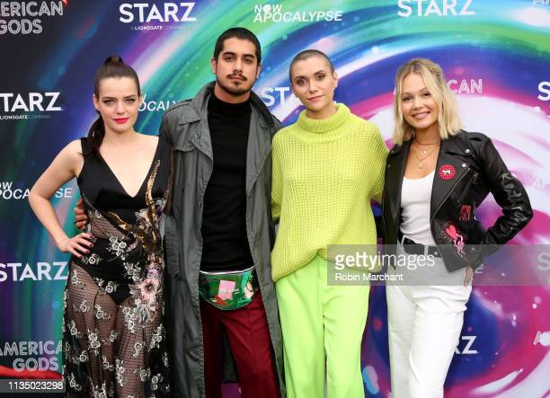 Roxane Mesquida Avan Jogia Alyson Stoner and Kelli Berglund attend American Gods Now Apocalypse Live Viewing Party At #TwitterHouse at Lustre Pearl...