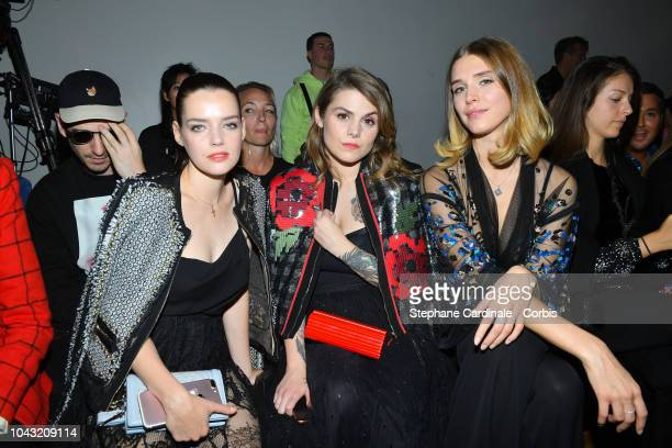 Roxane Mesquida Beatrice Martin asa Coeur de Pirate and Gaia Weiss attend the Elie Saab show as part of the Paris Fashion Week Womenswear...