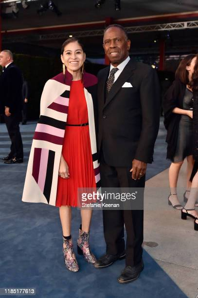 Roxanna Gaines and Charles Gaines attend the 2019 LACMA Art Film Gala Presented By Gucci at LACMA on November 02 2019 in Los Angeles California