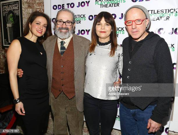 Roxanna Hope Craig Lucas Katheryn Erbe and Arliss Howard attend 'Ode To Joy' Opening Night Arrivals And Curtain Call at Cherry Lane Theatre on...