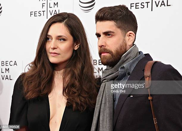 Roxanne Daner and actor Adam Goldberg attend the 'Rebirth' Premiere during the 2016 Tribeca Film Festivalat SVA Theatre 2 on April 17 2016 in New...