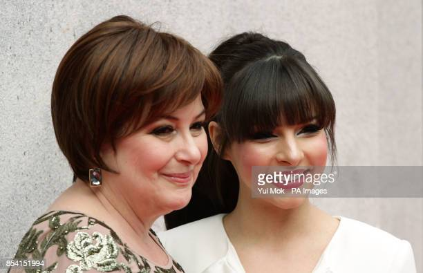 Roxanne Pallett and her mum arriving for the Tesco Mum of the Year Awards at The Savoy hotel in central London