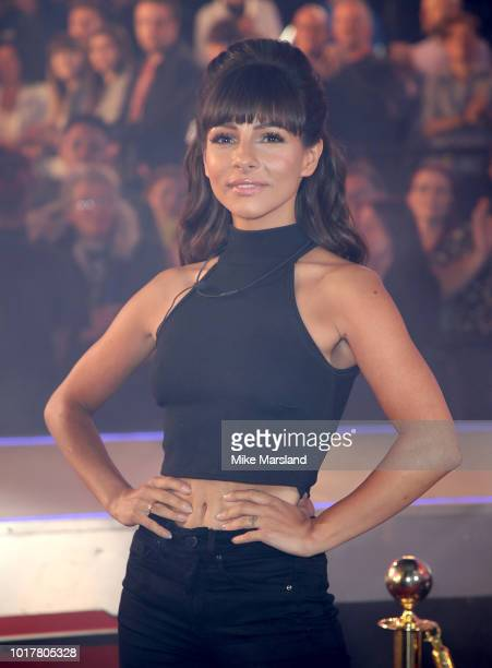 Roxanne Pallett enters the Celebrity Big Brother house at Elstree Studios on August 16 2018 in Borehamwood England